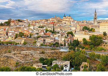 Cathedral of Toledo, Castilla La Mancha, Spain - Old city of...