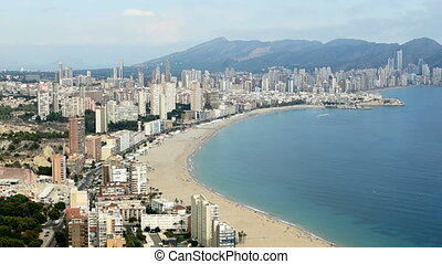 Coastline of Benidorm, one of the most popular Mediterranean...