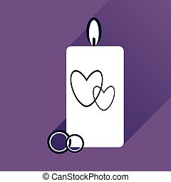 flat icon with long shadow wedding Candle
