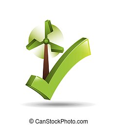 concept ecological icon wind power vector illustration eps...
