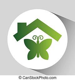 zielony,  fauna, ekologia, projektować,  Symbol