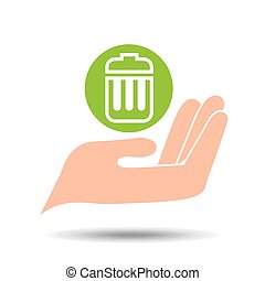 environment friendly concept trash can garbage vector...