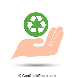 environment friendly concept recycle symbol vector...