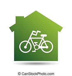 green ecology bike symbol design vector illustration eps 10