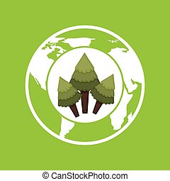 environment globe concept icon graphic