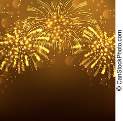 Festive Firework Bursting, Holiday Background - Illustration...