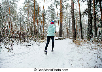 young woman runner