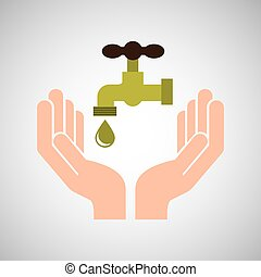hands care environment tap water