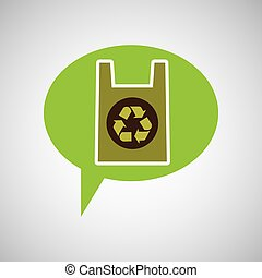 symbol recycle plastic bag design vector illustration eps 10