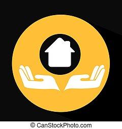 environment friendly concept house vector illustration eps...