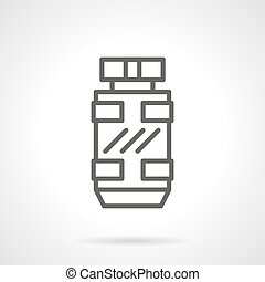 Masculine scent black line vector icons - Modern style...