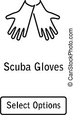 Icon gloves scuba diving equipment
