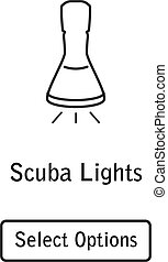 Icon lamp scuba diving equipment