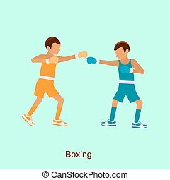 two boxers on squared ring