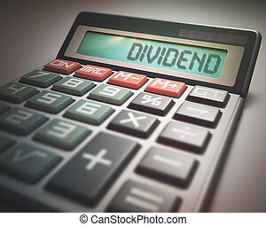 Dividend Calculator - Solar calculator with the word...