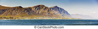 Hermanus Panorama South Africa - Panorama of Hermanus in...
