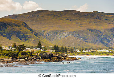 Hermanus Bayside in South Africa - Rocky bayside town of...
