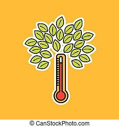 global warming environment concept design vector...