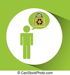 symbol recycle bag design vector illustration eps 10