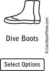 Icon boots scuba diving equipment