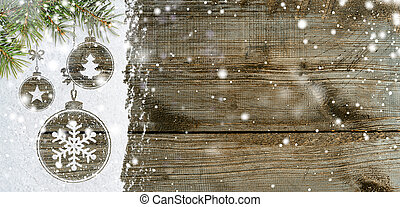 new year background on snow - christmas card or new year...