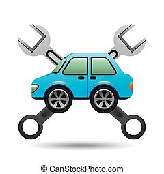 blue car icon tool support graphic vector illustration eps...