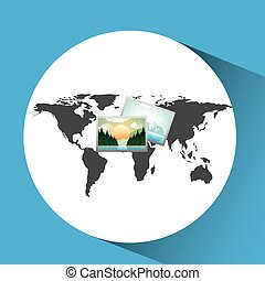 concept globe image photo social media vector illustration...