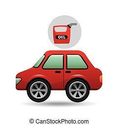car gallon oil red icon
