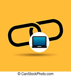 laptop icon chain link social media