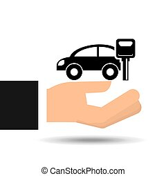 insurance car key protection graphic vector illustration eps...
