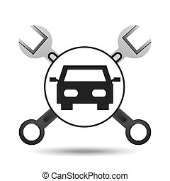 concept repair car tools icons