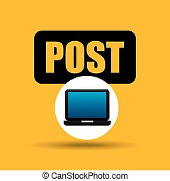 laptop icon post social media vector illustration eps 10