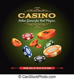 Casino Online Background - Illustration of a design casino...