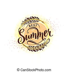 Vector illustration of calligraphy inscription best summer