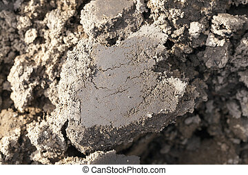 plowed agricultural field - photographed close-up of plowed...