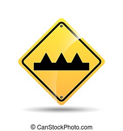 road sign warning icon design