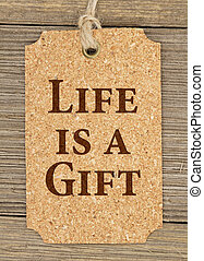 Old fashion life gift tag