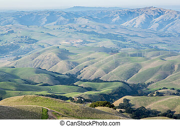 Classic Rolling Hills in the East Bay Regional Parks of Alameda County in California