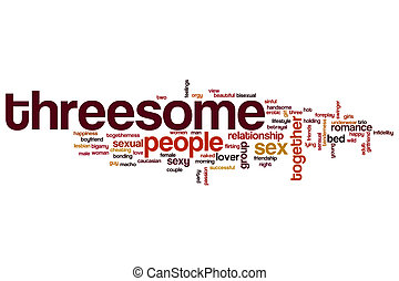 Threesome word cloud concept