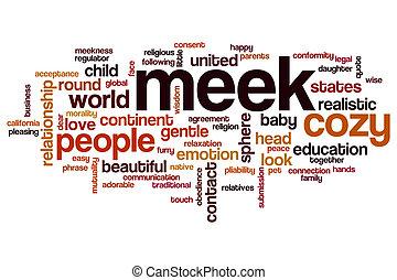 Meek word cloud concept
