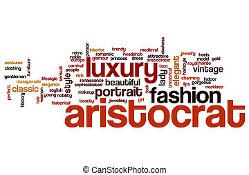 Aristocrat word cloud concept