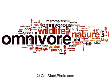 Omnivore word cloud concept