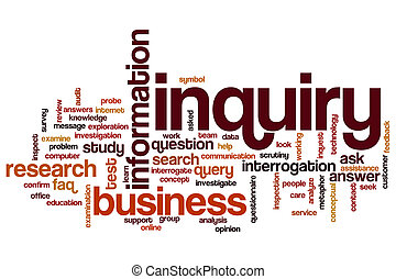 Inquiry word cloud concept