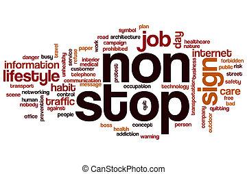 Non stop word cloud concept