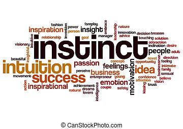 Instinct word cloud concept