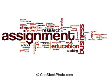 Assignment word cloud concept