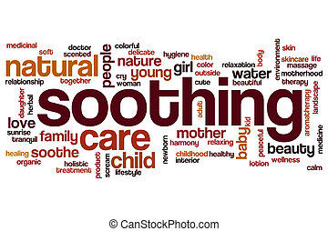 Soothing word cloud concept