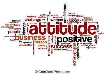 Attitude word cloud concept