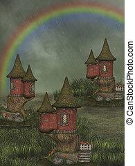 ファンタジー, 妖精, 家