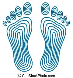 Abstract human footprints